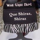 WINE GLASS SKIRT QUE SHIRAZ SHIRAZ AD JUSTABLE WASHABLE NEW GANZ