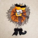 SEXY WITCH LINGERIE WINE BOTTLE COVER SNUGGLER COLLAR ORANGE AND BLACK NIGHTIE CUTE NEW GANZ