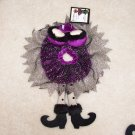 SEXY WITCH COSTUME WINE BOTTLE COVER SNUGGLER COLLAR PURPLE AND BLACK NIGHTIE CUTE NEW GANZ