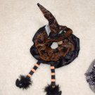 BLACK AND ORANGE WITCH WINE BOTTLE CORK AND TOPPER HALLOWEEN FUN NEW GANZ HOLIDAY GIFTS
