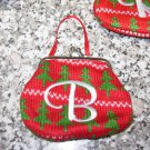 MONOGRAMED LETTER B HOLIDAY COIN PURSE ORNAMENT PERSONALIZED GIFT CARD HOLDER NEW GANZ