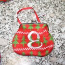 COIN PURSE ORNAMENT MONOGRAMED LETTER E HOLIDAY PERSONALIZED GIFT CARD HOLDER NEW GANZ