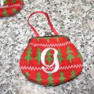 COIN PURSE ORNAMENT MONOGRAMED LETTER G HOLIDAY PERSONALIZED GIFT CARD HOLDER NEW GANZ