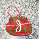 COIN PURSE ORNAMENT MONOGRAMED LETTER J HOLIDAY PERSONALIZED GIFT CARD HOLDER NEW GANZ