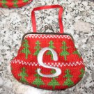 MONOGRAMED LETTER S HOLIDAY COIN PURSE ORNAMENT PERSONALIZED GIFT CARD HOLDER NEW GANZ