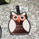 OWL LUGGAGE TAGS NEW GANZ BRONZE PINK WHITE ORANGEVINYL