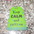 ATTITUDE LUGGAGE TAG KEEP CALM AND CARRY ON NEW GANZ
