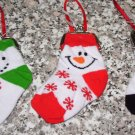 SNOWMAN RED WHITE CHRISTMAS STOCKING COIN PURSE CHRISTMAS ORNAMENT NEW GANZ HOLIDAY GIFT DECOR