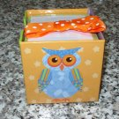 NOTE CUBE OWLS PAPER PAD AND HOLDER 3X3 CUBE 700 SHEETS NEW STATIONERY