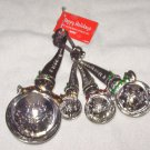 MEASURING SPOONS SET SNOWMEN HEAVY ZINC NEW GANZ BEAUTIFUL KITCHEN DECOR FUNCTIONAL