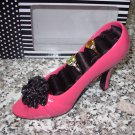 THE FABULOUS SHOE JEWELRY RING HOLDER HOT PINK AND BLACK GIFT BOXED NEW GANZ