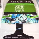 WINE GLASS SKIRT I COOK WITH WINE SOMETIMES NEOPRENE ADJUSTABLE WASHABLE NEW