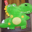 DINO PILLOW LIME GREEN DINOSAUR PILLOW NEW GANZ PLUSH STUFFED TOY