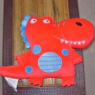 DINO PILLOW RED DRAGON DINOSAUR PILLOW NEW GANZ PLUSH STUFFED TOY