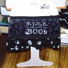 HALLOWEEN WINE GLASS SKIRT BYOB BRING YOUR OWN BOOS ADJUSTABLE WASHABLE NEW GANZ