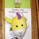 BABY GANZ YELLOW GIRAFFE PACIFIER CLIP LOOKIELOOS NEW