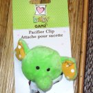BABY GANZ LIME GREEN ELEPHANT PACIFIER CLIP LOOKIELOOS NEW