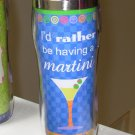 HOT COLD TRAVEL MUG I'D RATHER BE HAVING A MARTINI NEW GANZ HOME TRAVEL