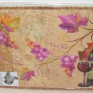 CUTTING MAT WINE AND GRAPES THEME FLEXIBLE CUTTING SLICING CHOPPING NEW GANZ KITCHEN DECOR TOO