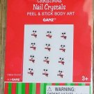 SNOWMEN PEEL AND STICK BODY ART NAIL CRYSTALS CUTE CHRISTMAS FUN NEW GANZ