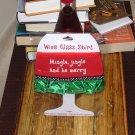 MINGLE JINGLE HOLIDAY WINE GLASS SKIRT CHRISTMAS HOLIDAY  ADJUSTABLE WASHABLE NEW GANZ