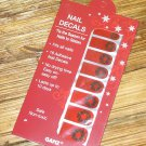 NAIL DECALS CHRISTMAS WREATH ON RED BACKGROUND DESIGN HOLIDAY OCCASION NEW GANZ EASY FITS ALL