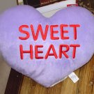HEART PILLOW 10 INCH SAYS SWEET HEART PURPLE LAVENDER NEW GANZ HOME DECOR GIFT