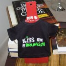 IRISH SASSY TEES WINE BOTTLE COVERS SAYS KISS ME I'M DRUNKISH NEW GANZ BAR HOME GIFT