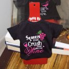 SASSY TEES WINE BOTTLE COVERS SAYS SQUEEZE ME CRUSH ME MAKE ME WINE NEW GANZ BAR HOME GIFT