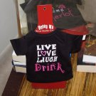 SASSY TEES WINE BOTTLE COVERS SAYS LIVE LOVE LAUGH DRINK NEW GANZ BAR HOME GIFT
