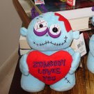 LOVE ZOMBIE HOLDING RED HEART SAYS ZOMBODY LOVES YOU VALENTINE GIFT ANY OCCASION NEW GANZ PLUSH DOLL