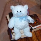 BLUE PETUNIA BEAR PLUSH STUFFED ANIMAL NEW GANZ TEDDY BEAR