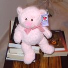 PINK PETUNIA BEAR PLUSH STUFFED ANIMAL NEW GANZ TEDDY BEAR