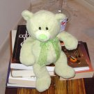 GREEN PETUNIA BEAR PLUSH STUFFED ANIMAL NEW GANZ TEDDY BEAR