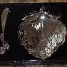 ARTICHOKE 2 PIECE BOWL AND SPREDDER SERVING SET ZINC NEW GANZ HOSTESS SERVING SET