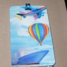 3D LUGGAGE TAG AIRPLANE HOT AIR BALLOON CRUISE SHIP PVC NEW GANZ TRIP TRAVEL VACATION NOVELTY