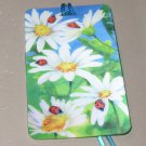 3D LUGGAGE TAG DAISIES AND LADYBUGS PVC NEW GANZ TRIP TRAVEL VACATION NOVELTY