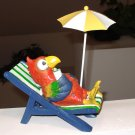 LOUNGE CHAIR PARROT AT THE BEACH NEW POLYSTONE GANZ