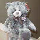 NEWPORT BEAR NEW GANZ PLUSH STUFFED TEDDYBEAR GREY 15 INCH