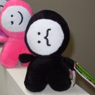 TEXTMEN PLUSH DOLL STACHE FACE BLACK SOFT PLUSH STUFFED DOLL NEW GANZ