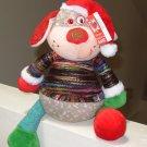 JOLLY FOLLIES DOG PLUSH STUFFED ANIMAL IN WRAPPED YARN SWEATER NEW GANZ CHRISTMAS