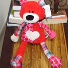 GANZ QUILITEES BEAR PLUSH STUFFED ANIMAL NEW CORDUROY HEART PLUSH TOY