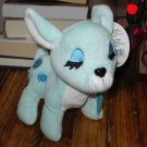 SNOWFLAKE REINDEER BABY RATTLE SOFT PLUSH ANIMAL BABY BLUE NEW GANZ BABY