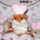 LIL BUNNY HAMSTER BROWN WHITE WITH RABBIT EARS NEW GANZ PLUSH STUFFED ANIMAL