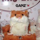 LIL HAMSTER PLUSH BROWN AND WHITE STUFFED ANIMAL TOY NEW GANZ