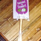SILICONE SPATULA DEVOTED TO DESSERTS DISHWASHER SAFE NEW GANZ KITCHEN