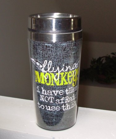 HOT COLD TRAVEL MUG FLYING MONKEYS I HAVE THEM AND NEW GANZ HOME TRAVEL