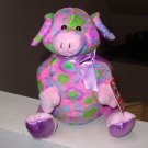 FLORAL CUTIE PIG PLUSH STUFFED ANIMAL TOY NEW GANZ