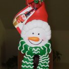SNOWMAN WINE LIQUOR BOTTLE COLLAR CHRISTMAS NEW GANZ HOLIDAY GIFT