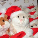 MERRY CHRISTMAS LIL HAMSTER PLUSH TAN AND WHITE STUFFED ANIMAL TOY NEW GANZ